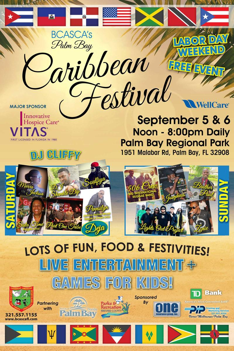 Palm Bay Caribbean Festival Sept 5th And 6th WFIT