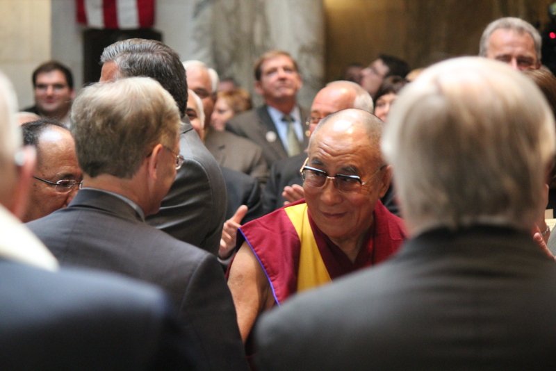 Dalai Lama Speaks To State Legislature