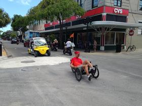 Key West is ideal for bikes and pedestrians - but also dangerous. People traveling under their own power share the streets with cars, trucks, electric cars, scooters and tourist trolleys.