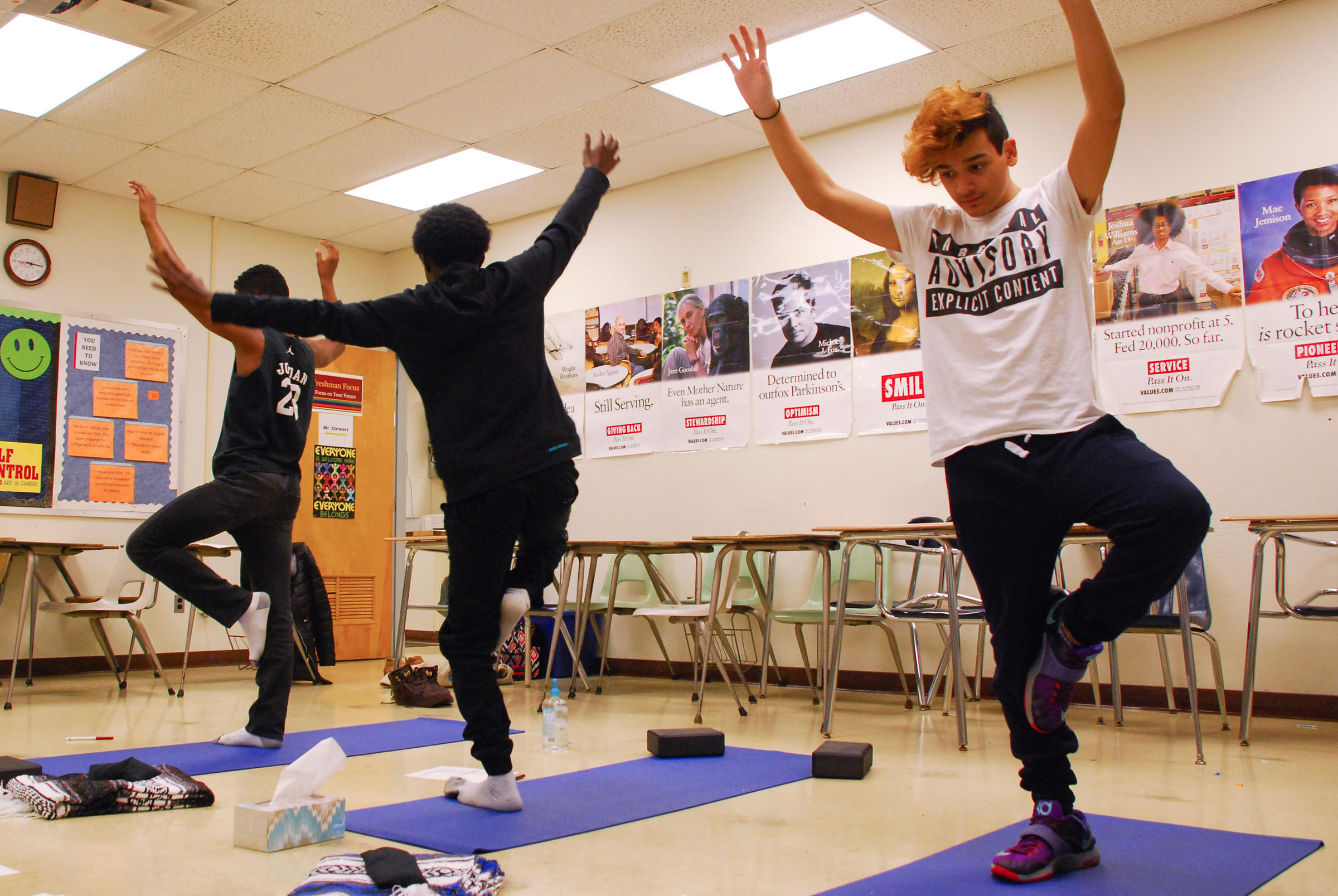At Lancaster High School Students Can Choose Yoga Over