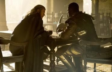 Chris Hemsworth as Thor and Idris Elba as Heimdall in 'Thor: The Dark World'