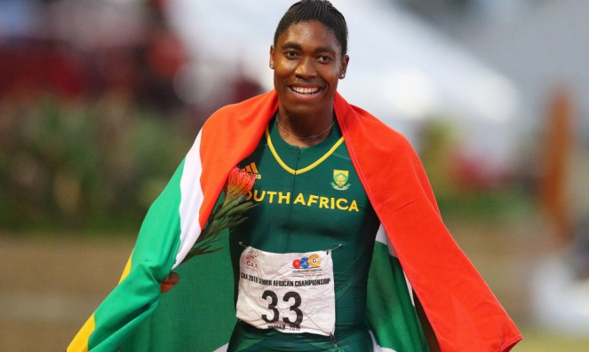 South Africa Caster Semenya wins the 800m final for women during day 5 of the Confederation of African Athletics (CAA) Championships held in Durban, on June 26, 2016. / AFP / Anesh Debiky (Photo credit should read ANESH DEBIKY/AFP/Getty Images)
