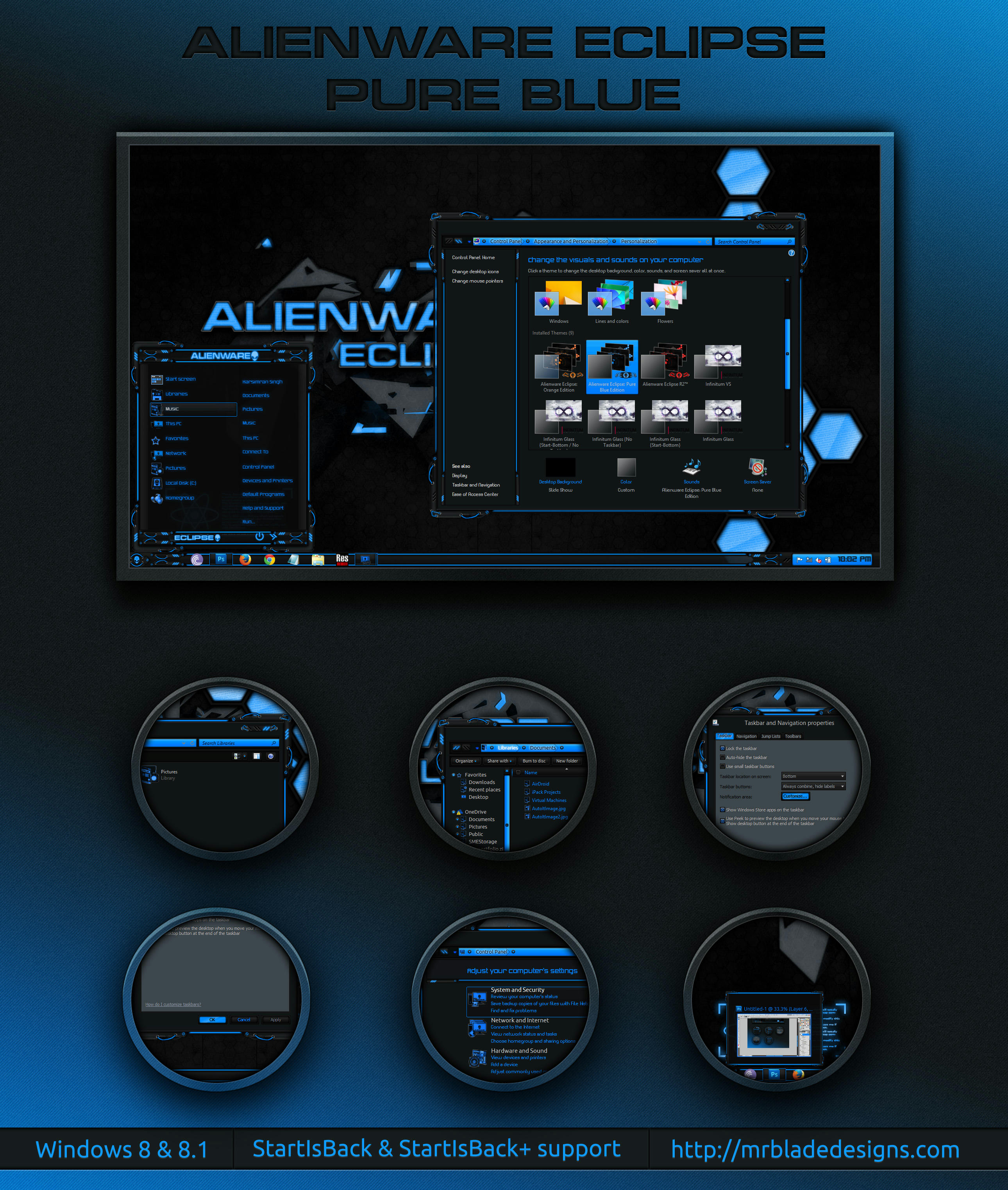 Alienware Eclipse Pure Blue