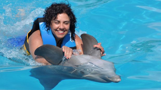 Swim with dolphins in Puerto Vallarta at Aquaventuras Park