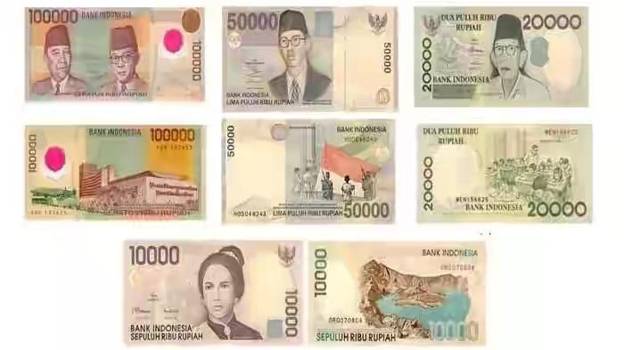 Empat pecahan uang kertas tahun emisi 1998 dan 1999 yang sudah tidak berlaku dapat menukarkan di bank Indonesia (foto Internet)