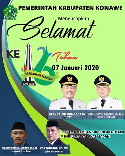 iklan kabupaten konawe Hut kolut