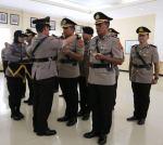 Pelantikan PJU Polda Sultra termasuk AKBP Susilo Setiawan dan AKBP Muh Nur Akbar Senin 16 Desember 2019 lalu. Foto: Ist