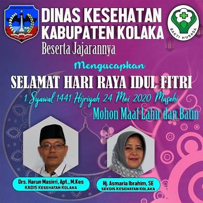 Iklan Dinas Ksesehatan Kab kolaka Idul Fitri (Terbit)