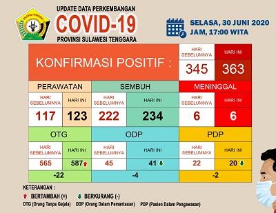 Data perkembangan Covid 19 30 Juni