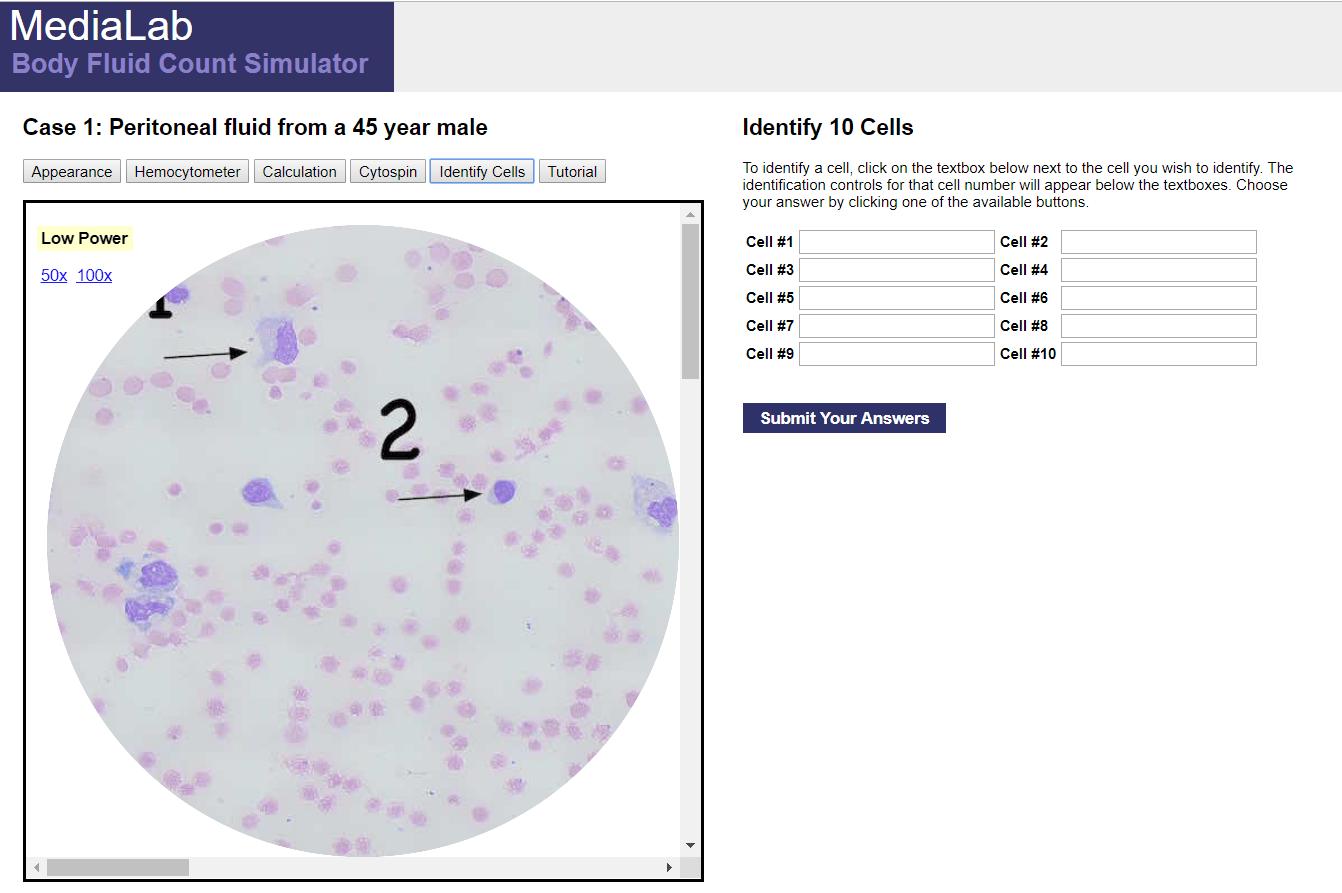 Body Fluid Count Simulator