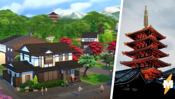 В The Sims 4 появилась Япония, и корейцы возмутились. Дело в храмах и восходящем солнце на кимоно
