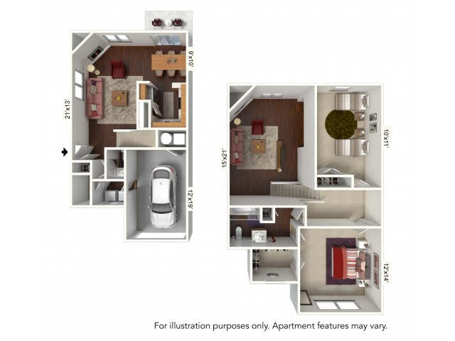 0 For The G Plan 2 Level Townhome With Attached Garage Floor