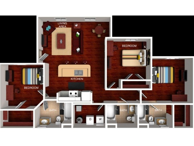the province - off-campus student apartment floor plans | off