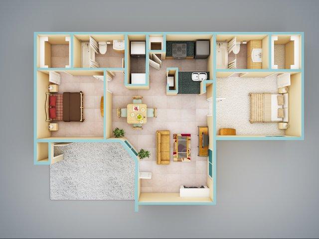 2 Bed / 2 Bath Apartment In Ridgeland MS