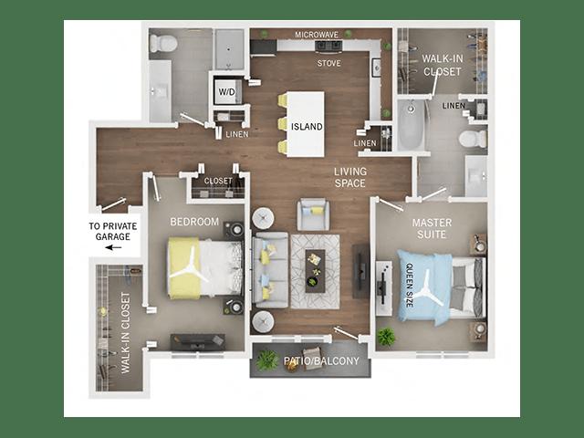 2 Bed / 2 Bath Apartment In Ann Arbor MI