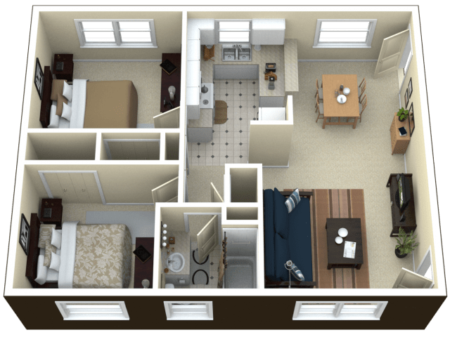 All Floor Plans2 Bedroom Apartment