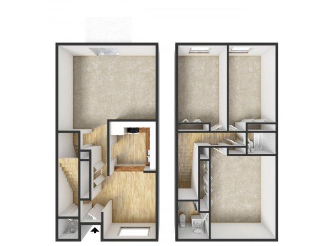 3 Bed / 2.5 Bath Apartment In Grand Rapids MI