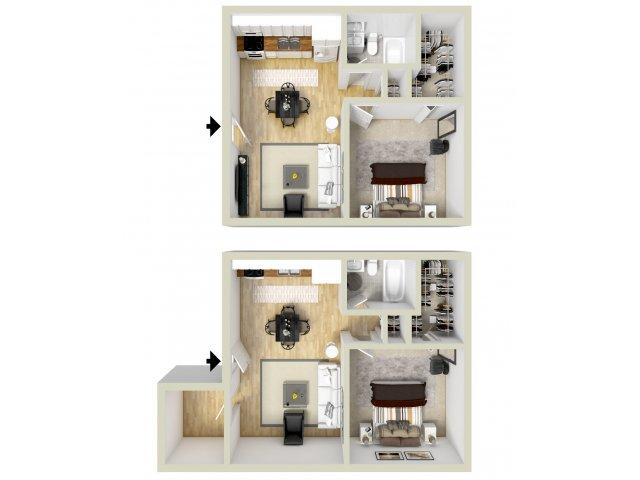 1 bed / 1 bath apartment in virginia beach va | windsong