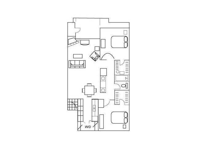 75+ 900 Square Foot Apartment Floor Plan