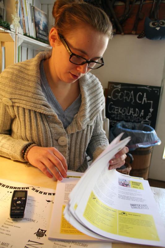 Małgorzata Wieczorek w nowotarskiej książKAwiarni Rezerwat organizuje maraton już po raz drugi. Wspólnie z TKA Ferment