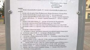 Rozkład jazdy busów w Rabce i kursy w tygodnie parzyste oraz nieparzyste.