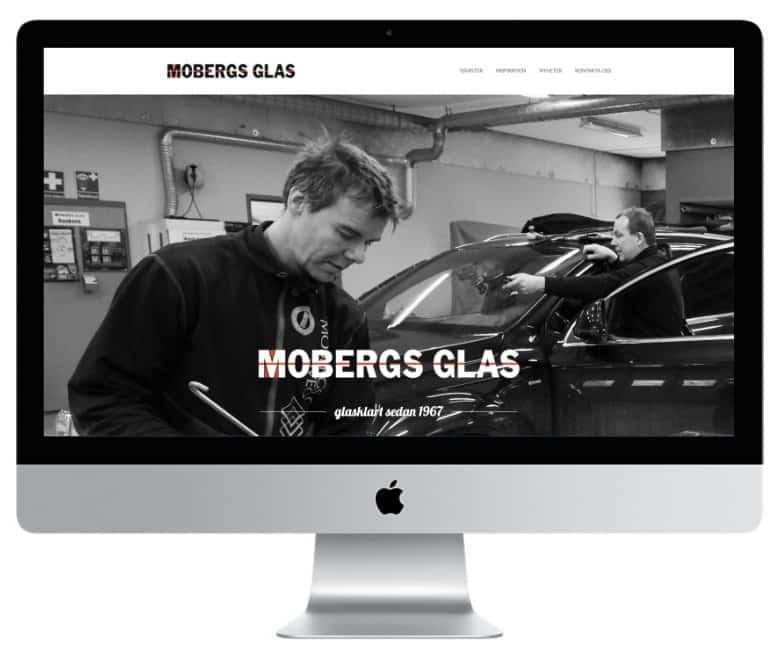 Gör som Mobergs Glas i Sveg anlita Mediamakarna Grip att bygga er hemsida. Vi bygger med WordPress.