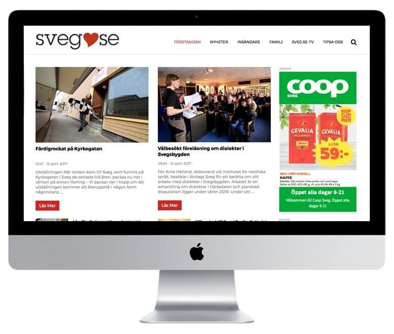 Professionell nyhetssajt utvecklad i WordPress av mediamakarna Grip.