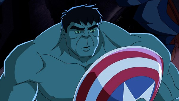 "MARVEL'S AVENGERS ASSEMBLE - ""The Avengers Protocol: Pt. 1"" - When Captain America is apparently destroyed by Red Skull, Iron Man re-unites the team to try and avenge his friend and stop Red Skull's army. This episode of ""Marvel's Avengers Assemble"" premieres SUNDAY, MAY 26 (11:00 AM - 11:30 AM ET/PT) on Disney XD. (DISNEY XD) HULK"