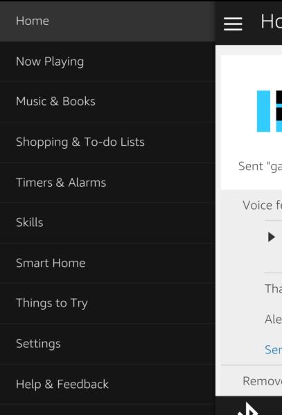 Alexa App Settings / We Must Be the Geeks
