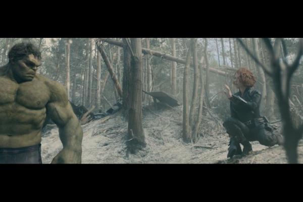 Mark Ruffalo as the Hulk and Scarlett Johansson as Black Widow in Avengers: Age of Ultron / Marvel / Disney