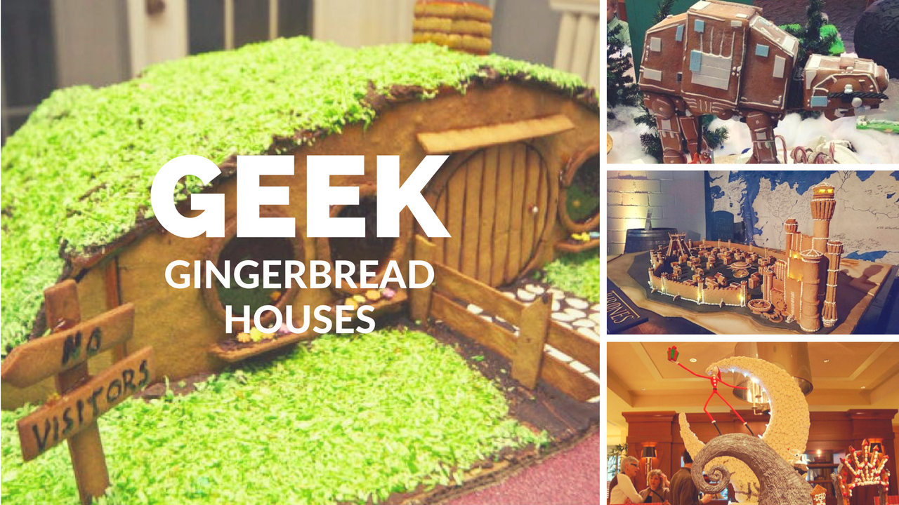 Geek Gingerbread Houses for Christmas