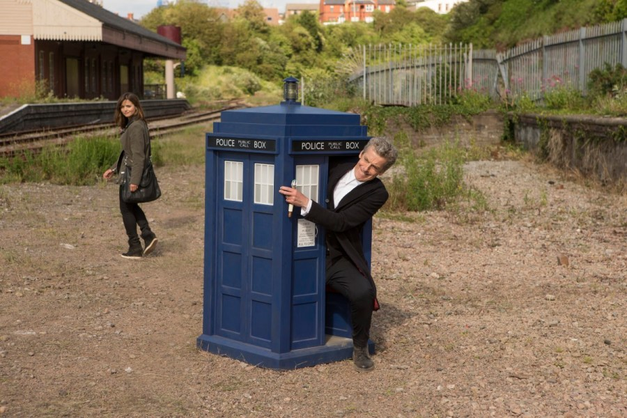 Picture shows: (l-r) Jenna Coleman as Clara, Peter Capaldi as The Doctor. Adrian Rogers, © BBC/BBC Worldwide 2014
