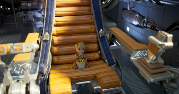 Groot in the Captain's Chair