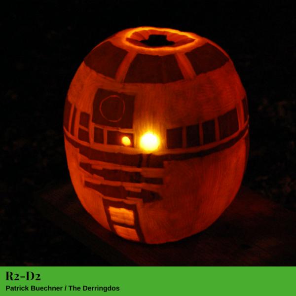 R2-D2 Jack-O'-Lantern