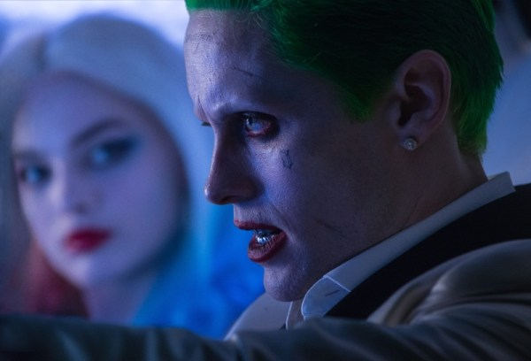 "(L-r) MARGOT ROBBIE as Harley Quinn and JARED LETO as The Joker in Warner Bros. Pictures' action adventure ""SUICIDE SQUAD,"" a Warner Bros. Pictures release. Copyright: © 2016 WARNER BROS. ENTERTAINMENT INC. AND RATPAC-DUNE ENTERTAINMENT LLC Photo Credit: Clay Enos/ TM & (c) DC Comics"