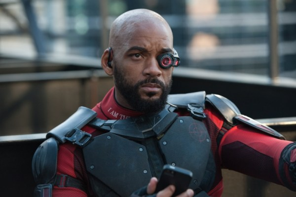 "WILL SMITH as Deadshot in Warner Bros. Pictures' action adventure ""SUICIDE SQUAD,"" a Warner Bros. Pictures release. Copyright: © 2016 WARNER BROS. ENTERTAINMENT INC. AND RATPAC-DUNE ENTERTAINMENT LLC Photo Credit: Clay Enos/ TM & (c) DC Comics"
