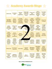 Oscar Bingo Cards 2