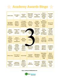 Oscar Bingo Cards 3