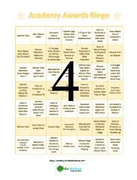 Oscar Bingo Cards 4
