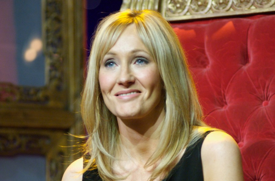 J.K. Rowling onstage in Radio City Music Hall for Harry, Carrie & Garp / © Scholastic