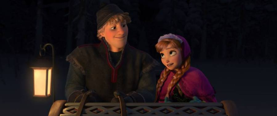 """FROZEN"" (L-R) KRISTOFF and ANNA. ©2013 Disney. All Rights Reserved. ©2013 Disney. All Rights Reserved."