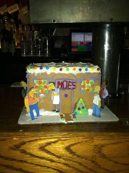 Gingerbread Moe's Tavern