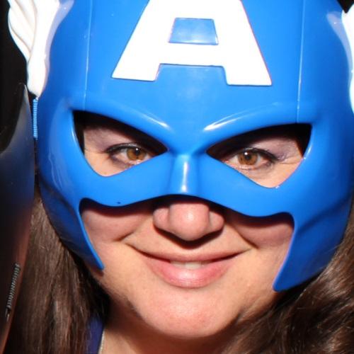 Nancy Basile Captain America Mask