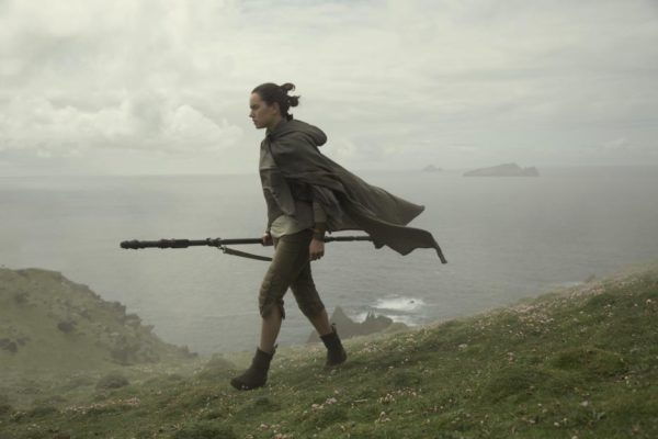 Daisy Ridley as Rey on Skellig Michael Island in 'Star Wars: The Last Jedi'