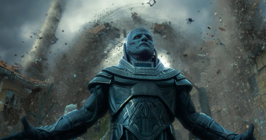 Apocalypse (Oscar Isaac), the original and most powerful mutant, embarks on a path of global destruction. Photo Credit: Courtesy Twentieth Century Fox.