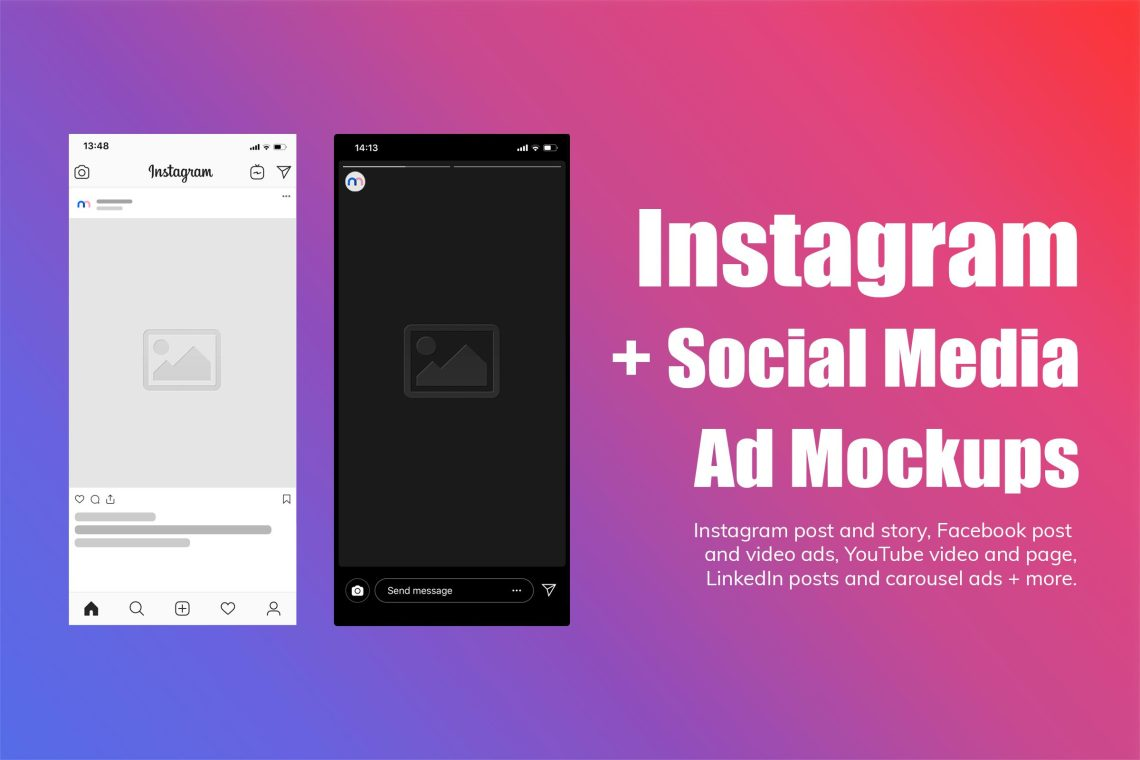 Download Free Mockup Instagram Yellowimages