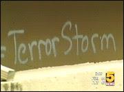 graffiti calls attention to 9/11
