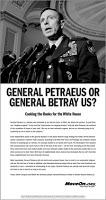 petraeus will betray us