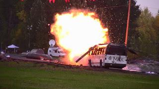 bomb scare disrupts topoff drill