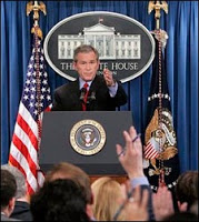 bush session with reporters was strictly off-the-record